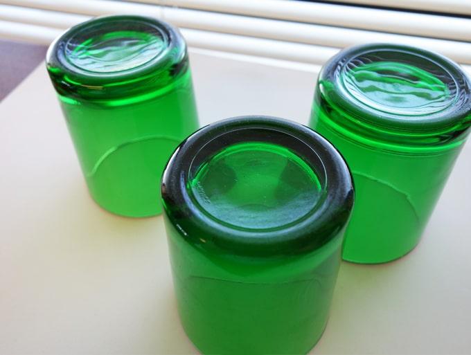 グリーンガラス タンブラー3個組