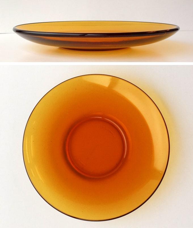 アンバーガラス ソーサー