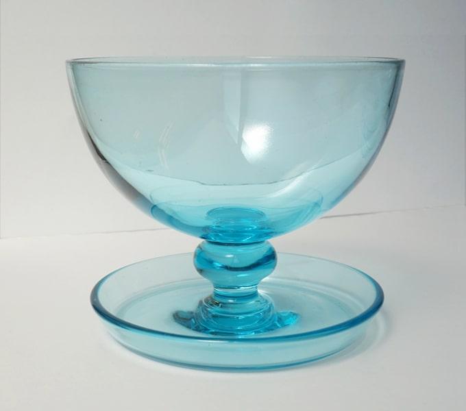 水色のヴィンテージガラス食器