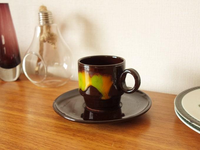 ヴィンテージ陶器カップ&ソーサー