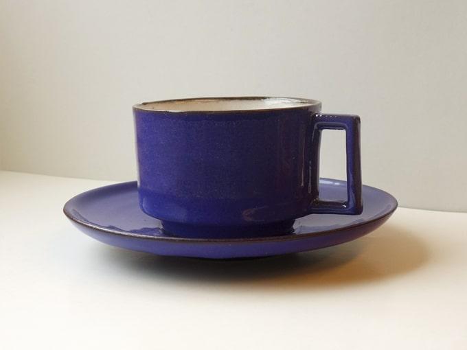 ヴィンテージカップ&ソーサー ブルー