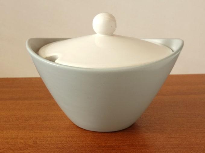 ビンテージ陶器シュガーポット 1950年代デザイン