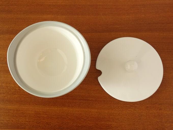 ビンテージ陶器シュガーポット 内側